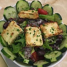 Greek Salad with pan seared feta