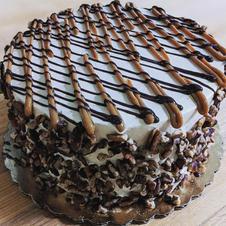 Turtle Pecan Cake
