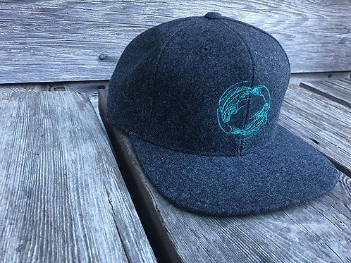 Lingcods Heavy Wool-Blend Flatbill Hat
