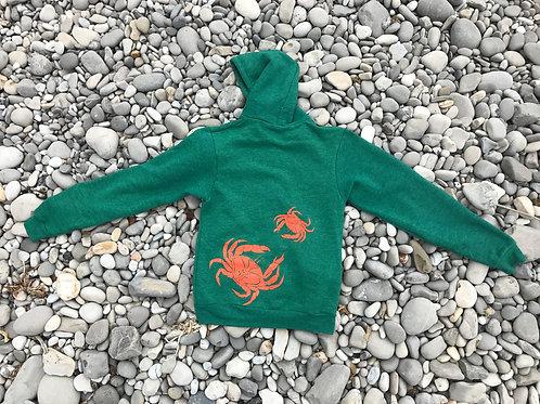 Dungeness Crab Zip Hoody