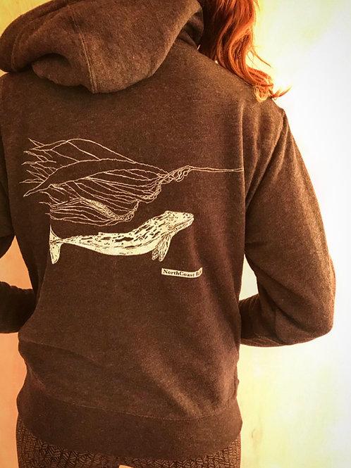 Unisex Gray Whale Sherpa Hoody