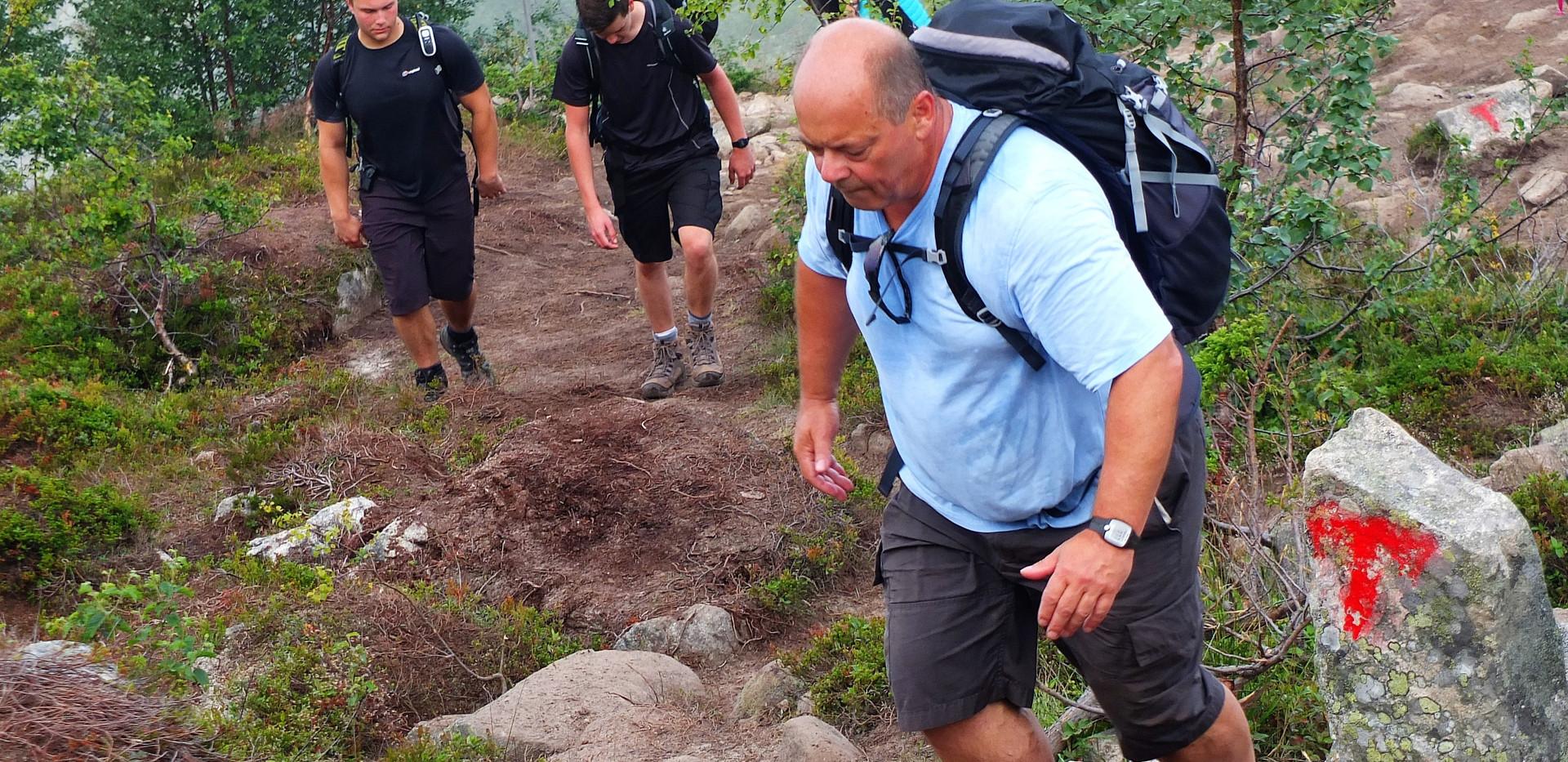 Carl enjoying his hike part way up! Gym | Fitness | Weight Loss | Personal Trainer | Fitness Training | Health | Harlow | Bishops Stortford | Sawbridgeworth | Hiking
