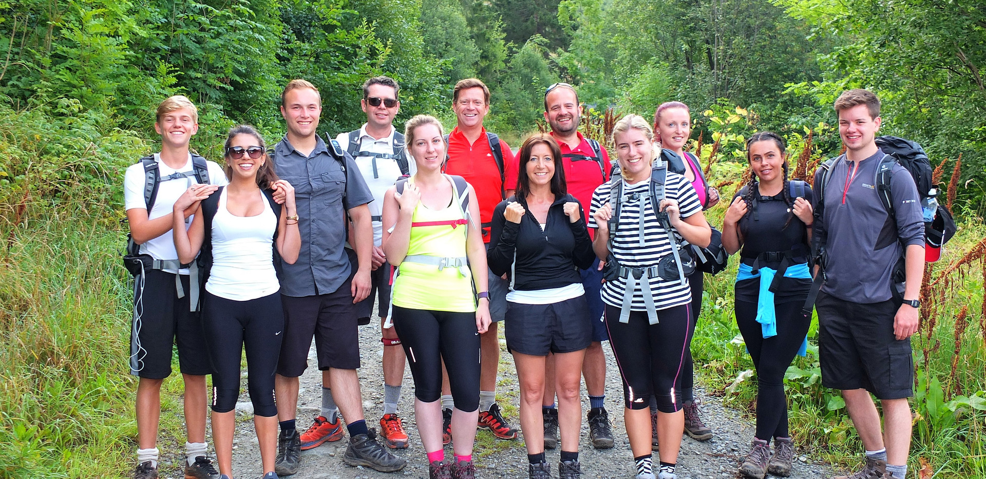 The participants of the Norway Hiking Trip 2016 | Gym | Exercise | Sawbridgeworth | Health | Personal Trainer | Harlow | Training