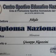 Diploma Nazonale Allenatore Aikido