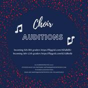 2021 – 2022 Choir Auditions