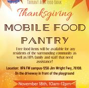 Drive-Thru Thanksgiving Mobile Food Pantry