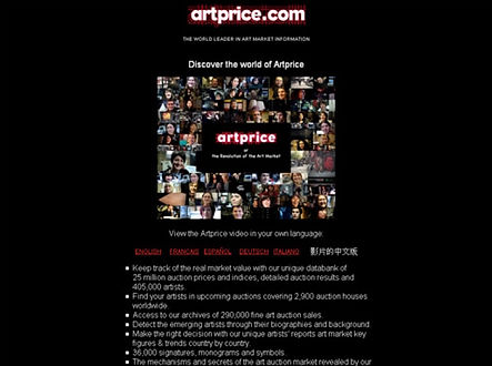 Artprice kunst database