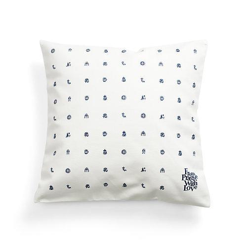 Prague symbols cushion cover