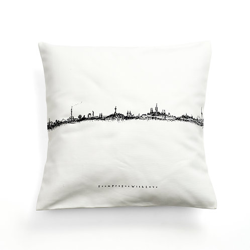Prague vedutte cushion cover