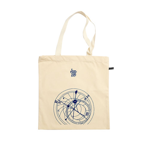 Cotton bag – Prague's astronomical clock