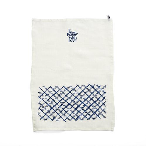 Check pattern tea towel