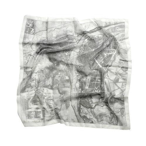 Old Prague map scarf