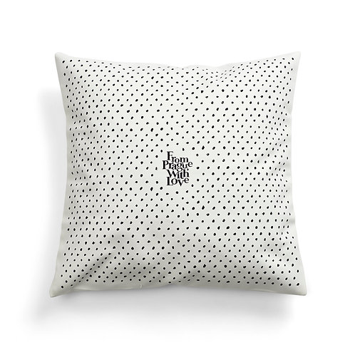Polka dots cushion cover