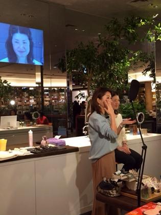 二子玉川 蔦屋家電にて、通販生活「スロワージュ」のメイクイベントを行いました