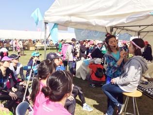 東北風土マラソン&フェスティバルにて、オルビスブースのメイクイベントに出演いたしました