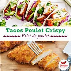 Tacos poulet crispy