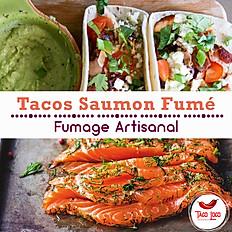Tacos saumon fumé +1€