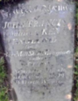 John Francis Gravestone