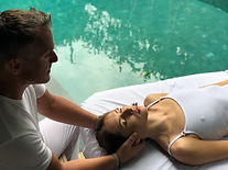 after a winter in courchevel a physiotherapist osteoapth is easing neck problem