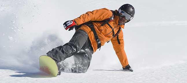 a physio osteopath in courchevel snowboarding