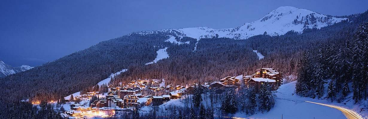 courchevel la tania at night for your osteopath physio