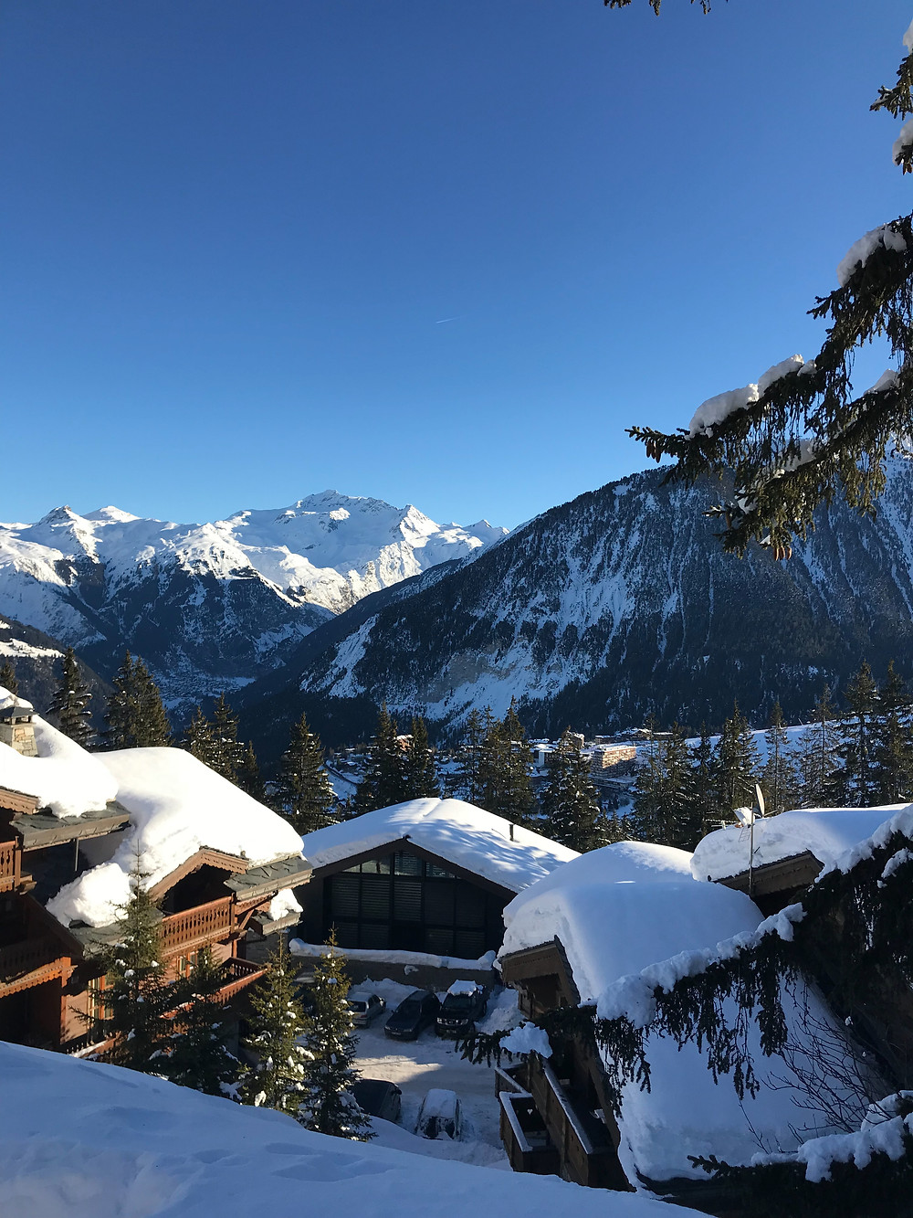 beautiful courchevel during home visits for a physio osteopath