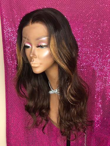 "Ready to install 16"" lace frontal wig"