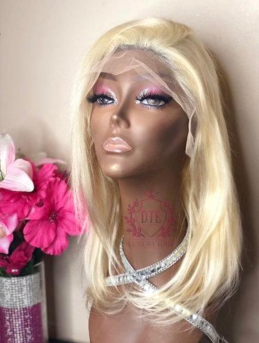 "Premium 12"" #613 Blonde Lace Front Wig"
