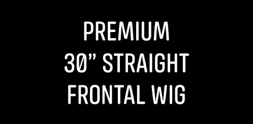 "Premium 30"" straight frontal wig"