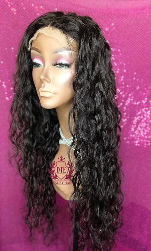 "Premium Waterwave 26"" 5x5 closure wig"