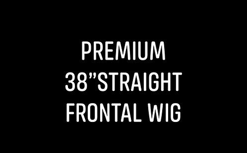 "Premium 38"" straight frontal wig"