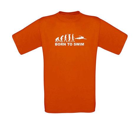 """Erwachsenen T-Shirt """"BORN TO SWIM"""""""