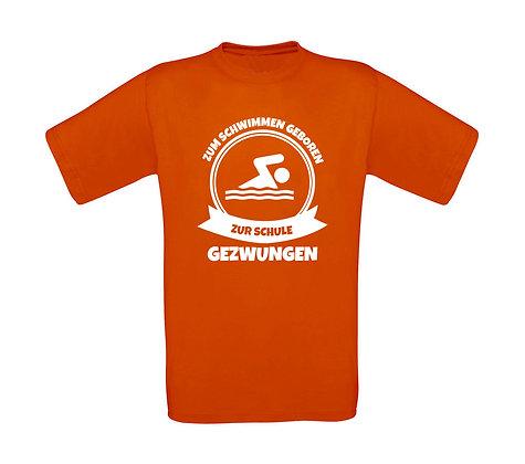 """Erwachsenen T-Shirt """"ZUM SCHWIMMEN GEBOREN"""""""