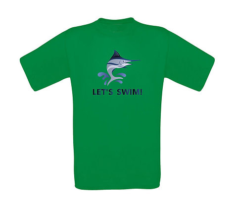"Erwachsenen T-Shirt ""LETS SWIM"""