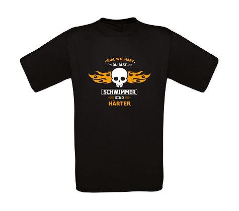"""Erwachsenen T-Shirt """"SCHWIMMER SIND HÄRTER"""""""