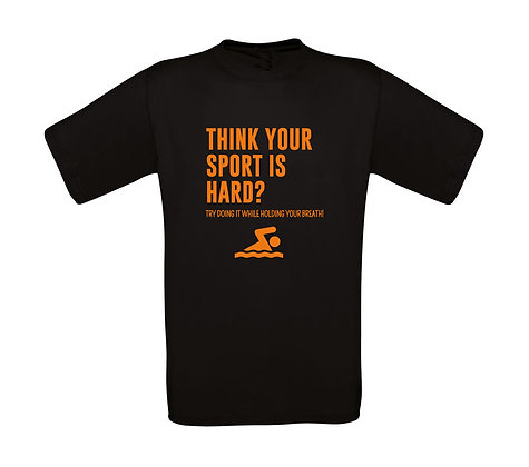 "Kinder T-Shirt ""THINK YOUR SPORT IS HARD?"""
