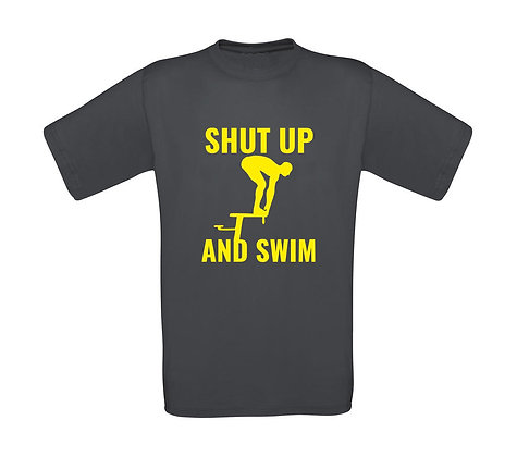"Kinder T-Shirt ""SHUT UP AND SWIM"""