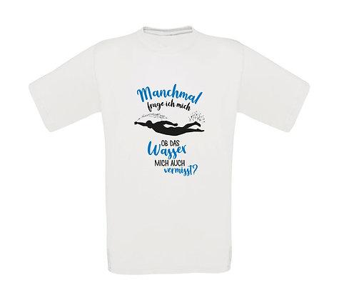 """Erwachsenen T-Shirt """"MANCHMAL FRAG ICH MICH.."""""""