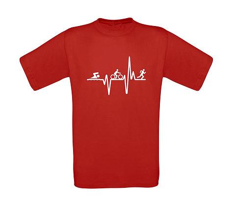 "Kinder T-Shirt ""TRIATHLON HEARTBEAT"""