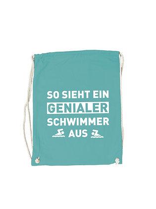 """Gymbag """"GENIALER SCHWIMMER"""""""