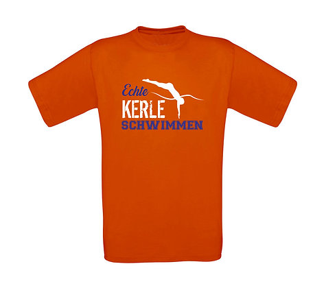 "Kinder T-Shirt ""ECHTE KERLE SCHWIMMEN"""