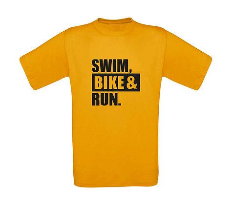 """Erwachsenen T-Shirt """"SWIM,BIKE,RUN"""""""