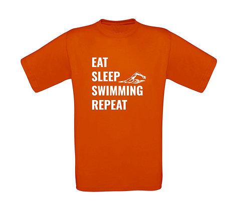 "Kinder T-Shirt ""EAT,SLEEP,SWIMMING,REPEAT"""