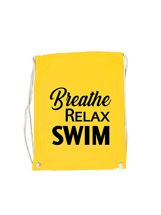 "Gymbag ""BREATHE,RELAX,SWIM"""