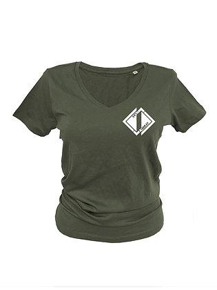 T-Shirt V-Ausschnitt Damen