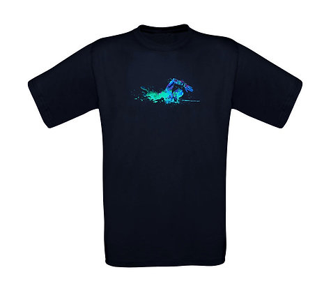 "Erwachsenen T-Shirt ""SWIMMER BLUE"""