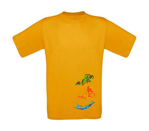 "Kinder T-Shirt ""TRIATHLON WATERCOLOUR"""