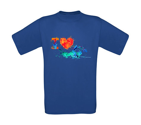 "Erwachsenen T-Shirt ""I LOVE SWIMMING"""