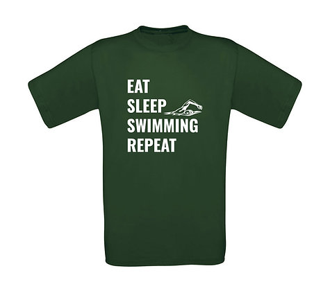 """Erwachsenen T-Shirt """"EAT,SLEEP,SWIMMING,REPEAT"""""""