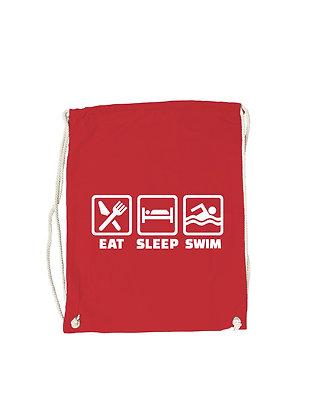 """Gymbag """"EAT,SLEEP,SWIM"""""""